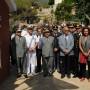 Inizio della cerimonia davanti alla Casa Falcone Borsellino